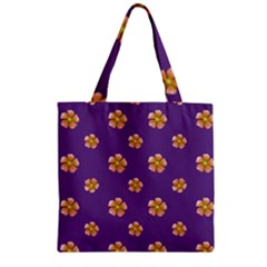 Ditsy Floral Pattern Design Zipper Grocery Tote Bag by dflcprints