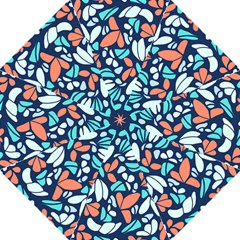 Blue Tossed Flower Floral Folding Umbrellas by Mariart