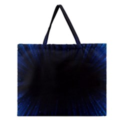 Colorful Light Ray Border Animation Loop Blue Motion Background Space Zipper Large Tote Bag by Mariart