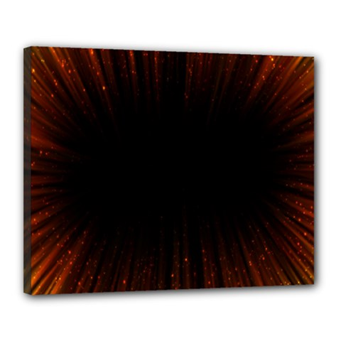 Colorful Light Ray Border Animation Loop Orange Motion Background Space Canvas 20  X 16  by Mariart