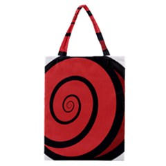Double Spiral Thick Lines Black Red Classic Tote Bag by Mariart