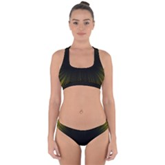 Colorful Light Ray Border Animation Loop Yellow Cross Back Hipster Bikini Set