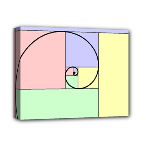 Golden Spiral Logarithmic Color Deluxe Canvas 14  X 11  by Mariart