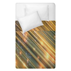 Golden Blue Lines Sparkling Wild Animation Background Space Duvet Cover Double Side (single Size) by Mariart