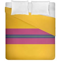 Layer Retro Colorful Transition Pack Alpha Channel Motion Line Duvet Cover Double Side (california King Size) by Mariart