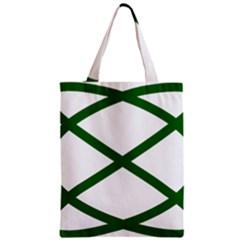 Lissajous Small Green Line Classic Tote Bag by Mariart