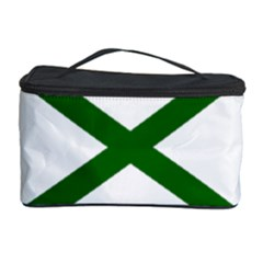 Lissajous Small Green Line Cosmetic Storage Case by Mariart