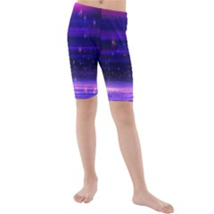 Massive Flare Lines Horizon Glow Particles Animation Background Space Kids  Mid Length Swim Shorts by Mariart