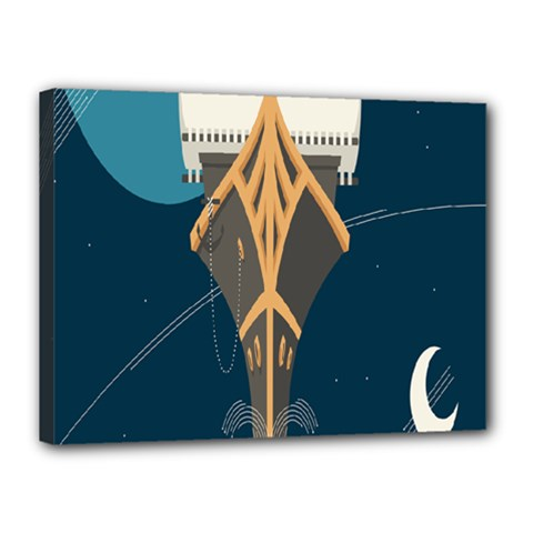 Planetary Resources Exploration Asteroid Mining Social Ship Canvas 16  X 12  by Mariart