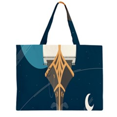 Planetary Resources Exploration Asteroid Mining Social Ship Zipper Large Tote Bag by Mariart