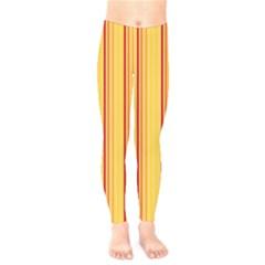Red Orange Lines Back Yellow Kids  Legging by Mariart