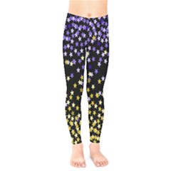 Space Star Light Gold Blue Beauty Kids  Legging by Mariart