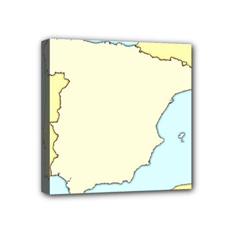 Spain Map Modern Mini Canvas 4  X 4  by Mariart