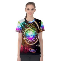 Space Star Planet Light Galaxy Moon Women s Cotton Tee by Mariart