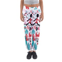London Illustration City Women s Jogger Sweatpants by Mariart