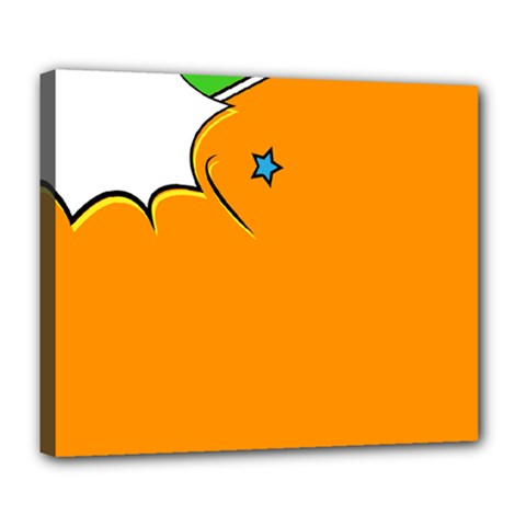 Star Line Orange Green Simple Beauty Cute Deluxe Canvas 24  X 20   by Mariart