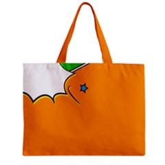 Star Line Orange Green Simple Beauty Cute Zipper Mini Tote Bag by Mariart