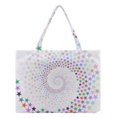 Prismatic Stars Whirlpool Circlr Rainbow Medium Tote Bag by Mariart