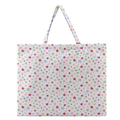 Star Rainboe Beauty Space Zipper Large Tote Bag by Mariart