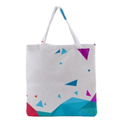 Triangle Chevron Colorfull Grocery Tote Bag by Mariart