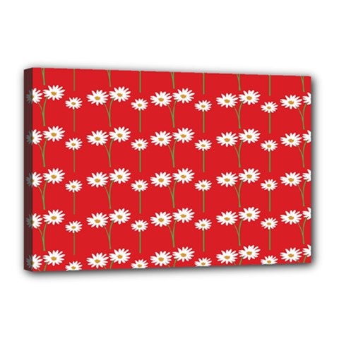 Sunflower Red Star Beauty Flower Floral Canvas 18  X 12  by Mariart