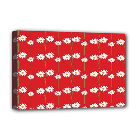 Sunflower Red Star Beauty Flower Floral Deluxe Canvas 18  X 12   by Mariart