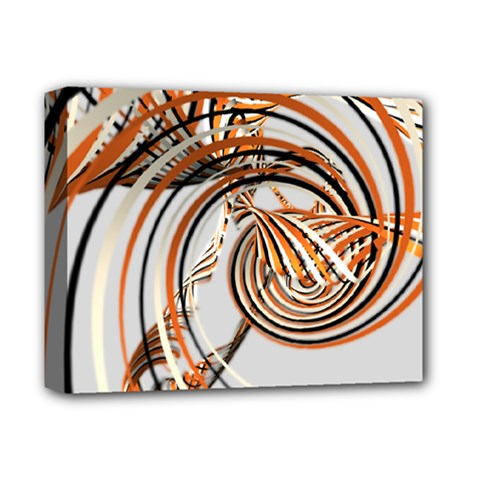 Splines Line Circle Brown Deluxe Canvas 14  X 11  by Mariart