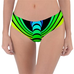 Twisted Motion Rainbow Colors Line Wave Chevron Waves Reversible Classic Bikini Bottoms by Mariart
