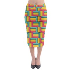 Soft Spheres Pattern Midi Pencil Skirt by linceazul