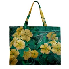 Yellow Flowers At Nature Mini Tote Bag by dflcprints