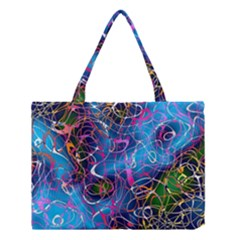 Background Chaos Mess Colorful Medium Tote Bag by Nexatart