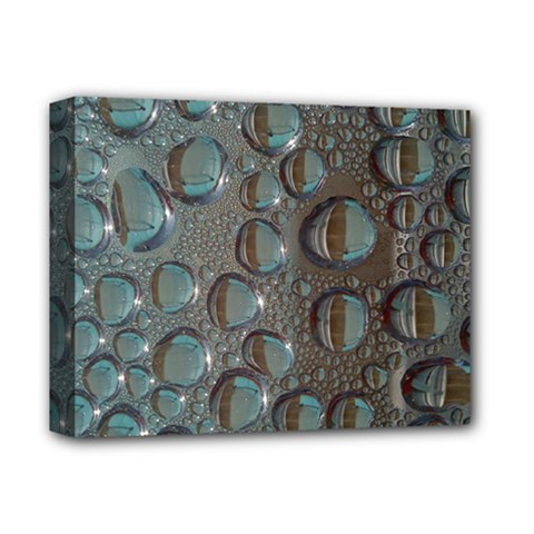 Drop Of Water Condensation Fractal Deluxe Canvas 14  X 11  by Nexatart
