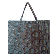Drop Of Water Condensation Fractal Zipper Large Tote Bag by Nexatart