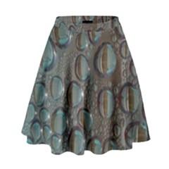 Drop Of Water Condensation Fractal High Waist Skirt by Nexatart