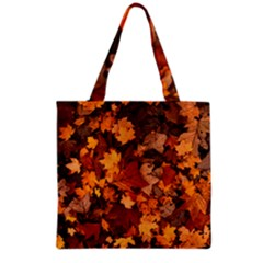 Fall Foliage Autumn Leaves October Grocery Tote Bag by Nexatart