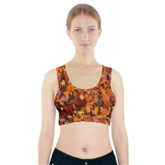 Fall Foliage Autumn Leaves October Sports Bra With Pocket
