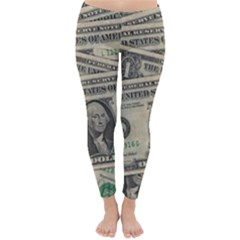Dollar Currency Money Us Dollar Classic Winter Leggings by Nexatart