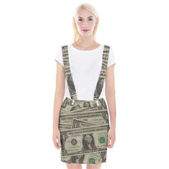 Dollar Currency Money Us Dollar Braces Suspender Skirt by Nexatart