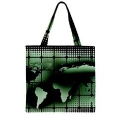 Matrix Earth Global International Zipper Grocery Tote Bag by Nexatart