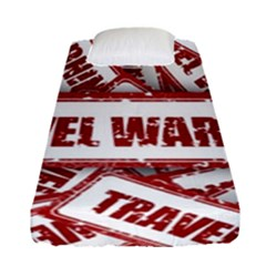 Travel Warning Shield Stamp Fitted Sheet (single Size) by Nexatart