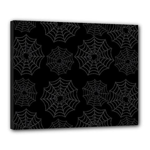 Spider Web Canvas 20  X 16  by Valentinaart