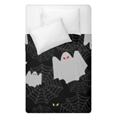 Spider Web And Ghosts Pattern Duvet Cover Double Side (single Size) by Valentinaart