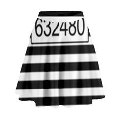 Prison  High Waist Skirt by Valentinaart