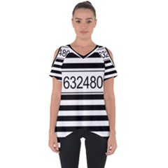 Prison  Cut Out Side Drop Tee