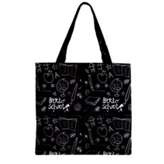 Back To School Zipper Grocery Tote Bag by Valentinaart
