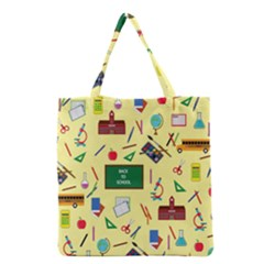 Back To School Grocery Tote Bag by Valentinaart