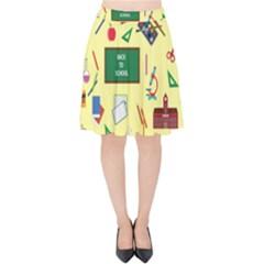 Back To School Velvet High Waist Skirt by Valentinaart