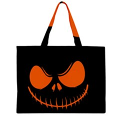 Halloween Zipper Large Tote Bag by Valentinaart
