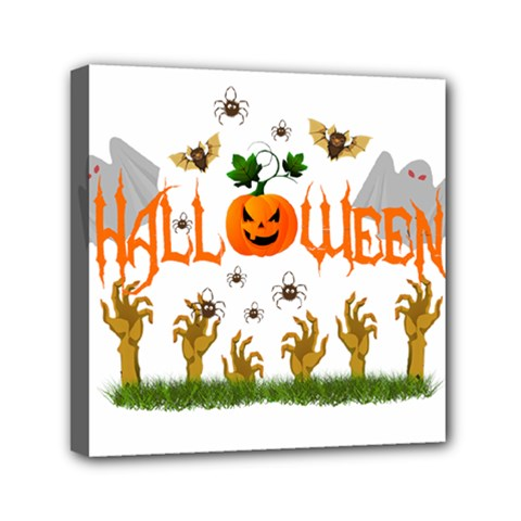 Halloween Mini Canvas 6  X 6  by Valentinaart