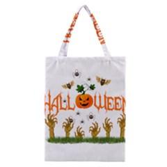 Halloween Classic Tote Bag by Valentinaart